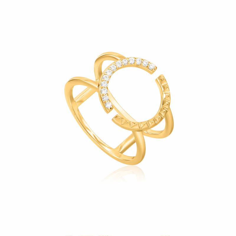 Gold Spike Double Ring