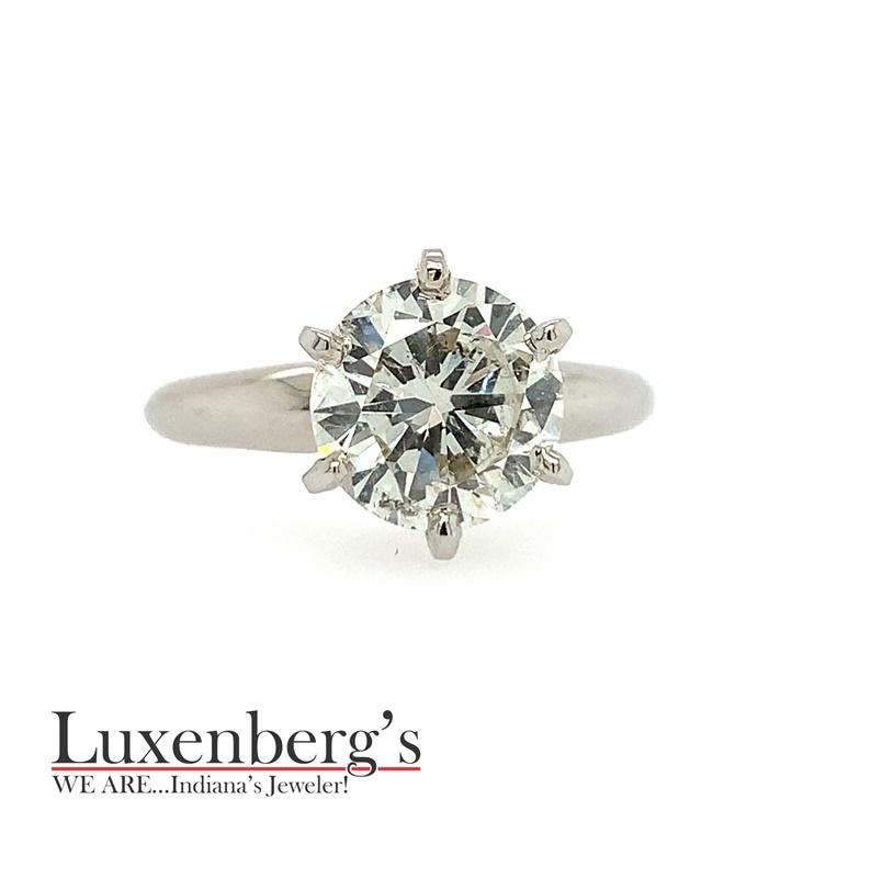 Round Tiffany Solitaire Engagement Ring
