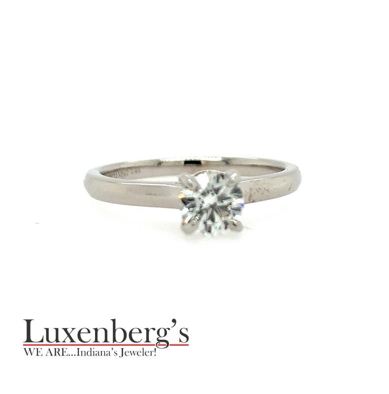 Hearts and Arrows Solitaire Engagement Ring