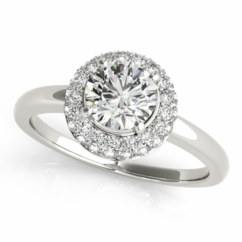 SEMI MOUNT ENGAGEMENT RING HALO ROUND - 8D1R50533