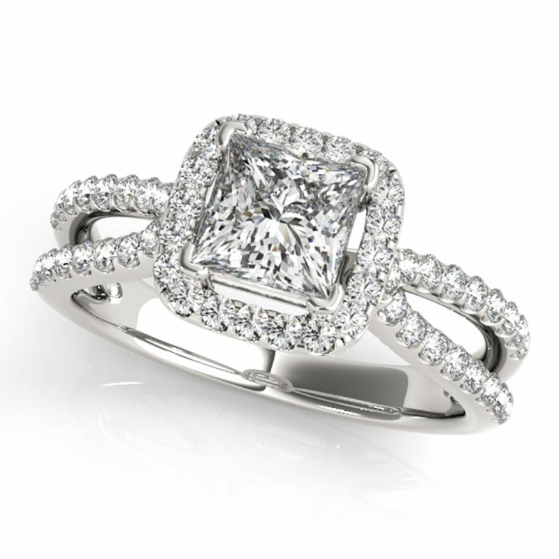 SEMI MOUNT ENGAGEMENT RING HALO SQUARE & CUSHION - 8D1R50552