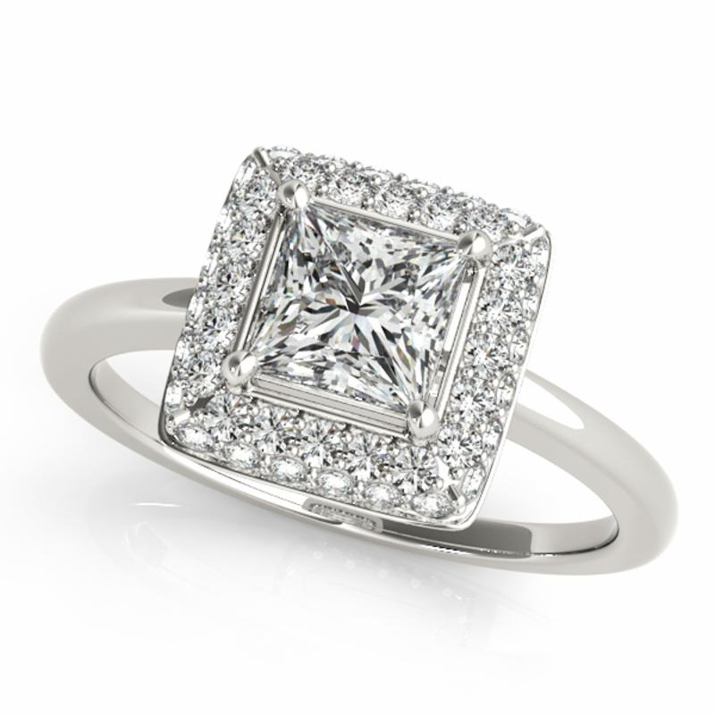 SEMI MOUNT ENGAGEMENT RING HALO SQUARE & CUSHION - 8D1R50565