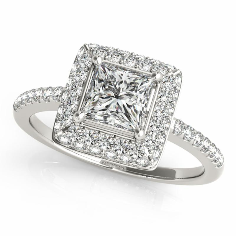 SEMI MOUNT ENGAGEMENT RING HALO SQUARE & CUSHION - 8D1R50568