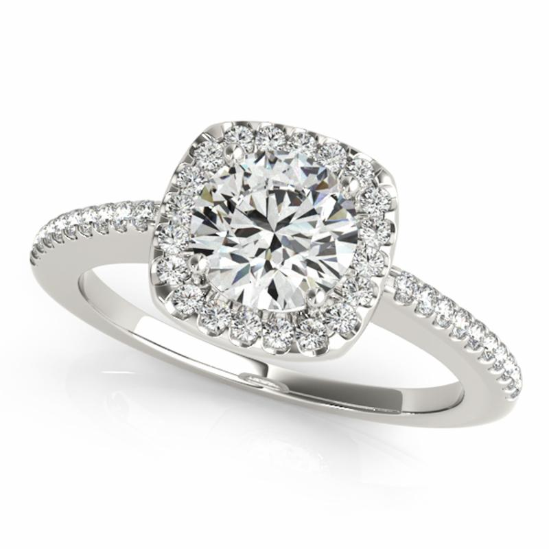 SEMI MOUNT ENGAGEMENT RING HALO ROUND **50551 - 8D1R50815