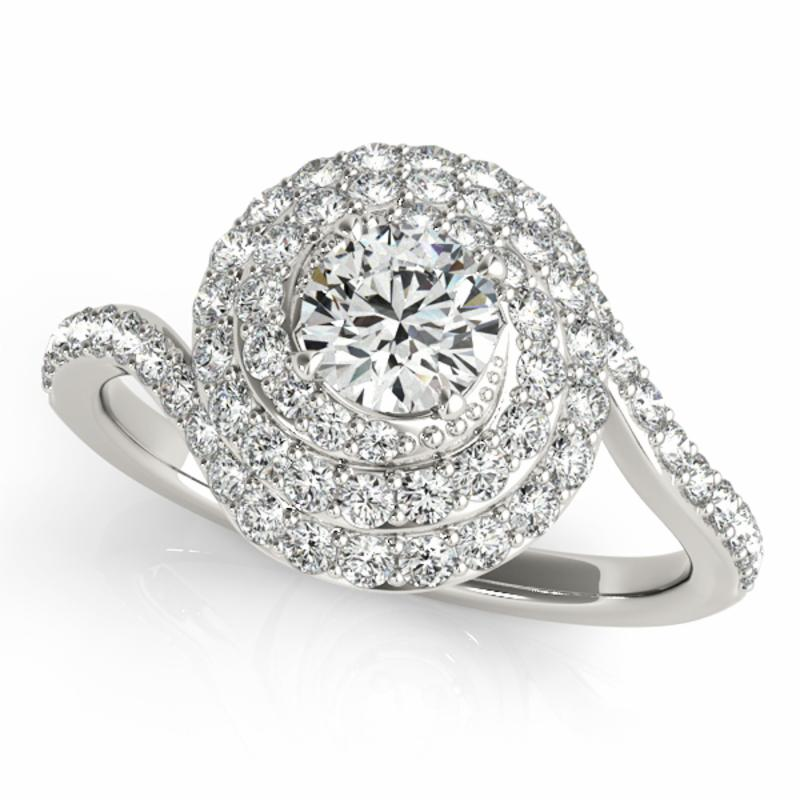 SEMI MOUNT ENGAGEMENT RING HALO ROUND - 8D1R50824