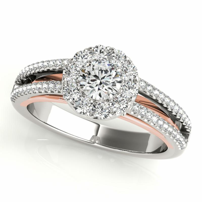 SEMI MOUNT ENGAGEMENT RING HALO ROUND - 8D1R50867-E