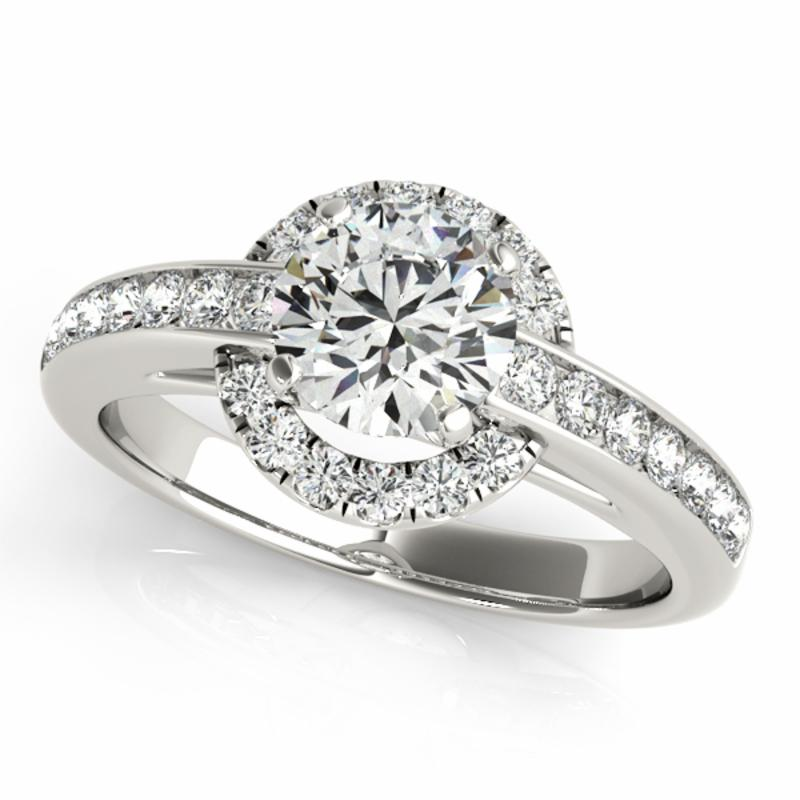 SEMI MOUNT ENGAGEMENT RING HALO ROUND - 8D1R50869-E