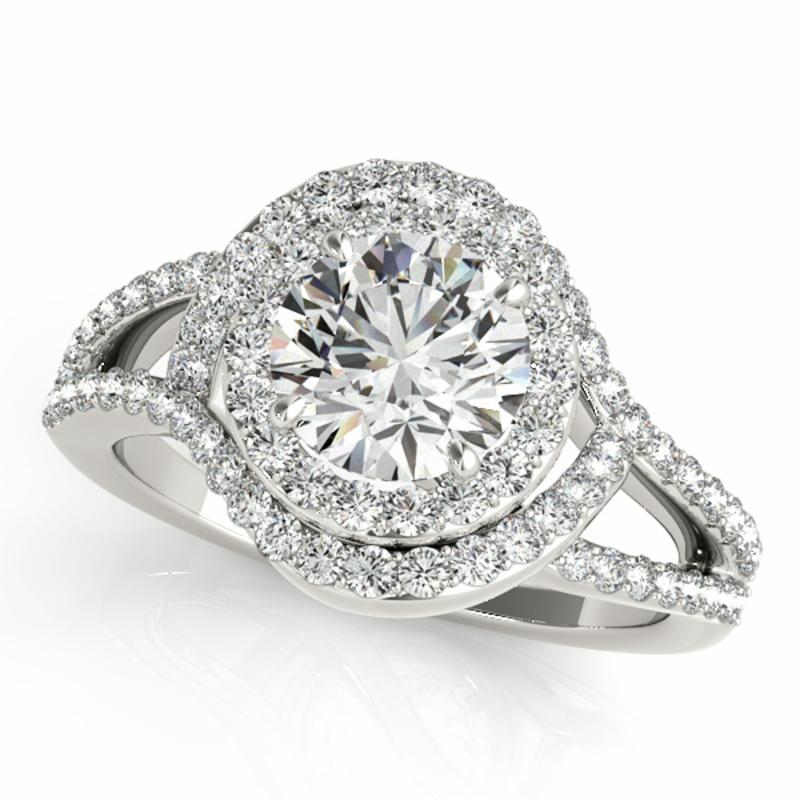 SEMI MOUNT ENGAGEMENT RING HALO ROUND - 8D1R50890