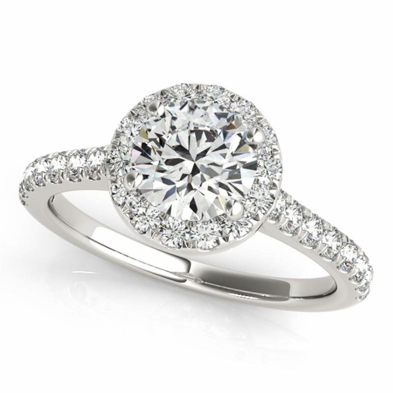 SEMI MOUNT ENGAGEMENT RING HALO ROUND - 8D1R50891