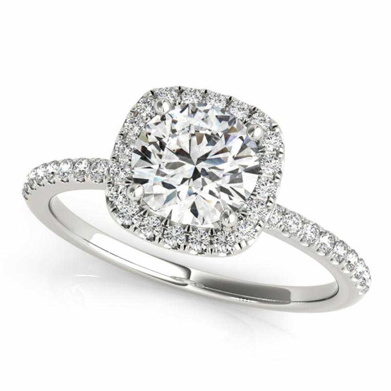 SEMI MOUNT ENGAGEMENT RING HALO ROUND - 8D1R50893