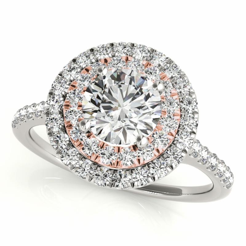 SEMI MOUNT ENGAGEMENT RING HALO ROUND - 8D1R50900