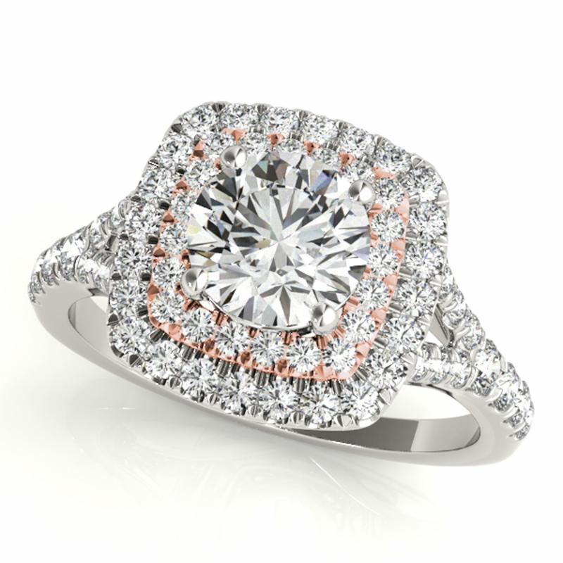 SEMI MOUNT ENGAGEMENT RING HALO ROUND - 8D1R50901