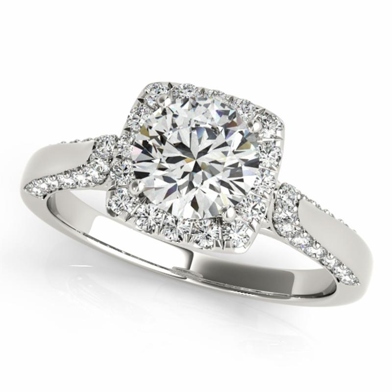 SEMI MOUNT ENGAGEMENT RING HALO ROUND - 8D1R50903