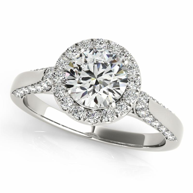 SEMI MOUNT ENGAGEMENT RING HALO ROUND - 8D1R50904
