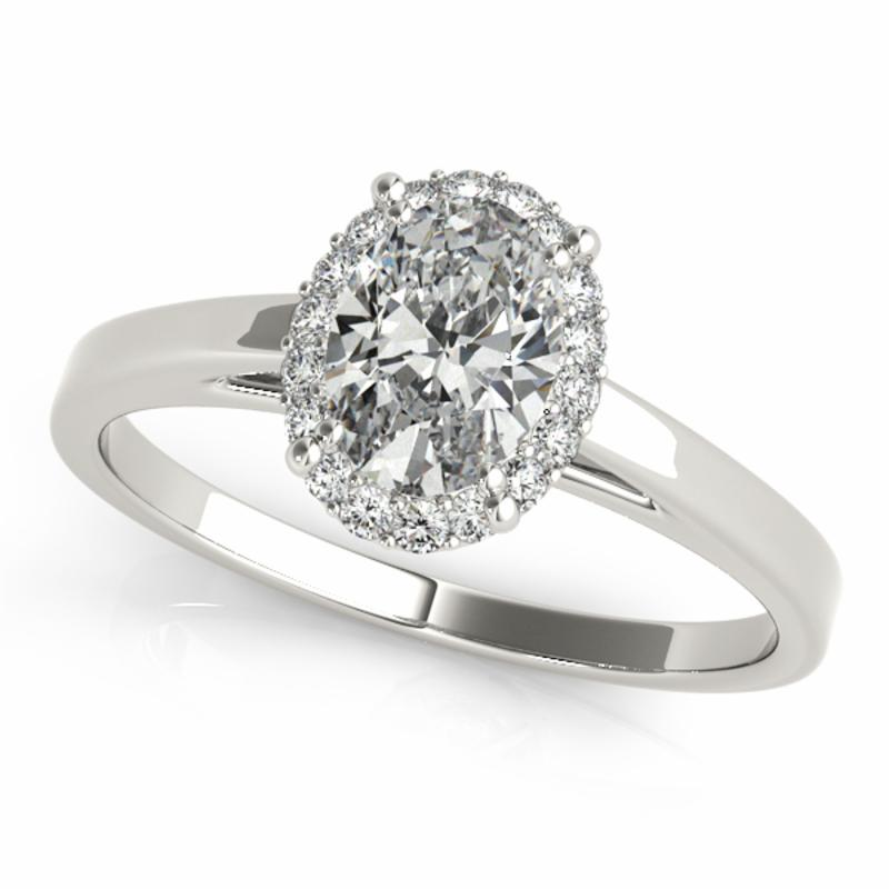 SEMI MOUNT ENGAGEMENT RING HALO OVAL - 8D1R50916
