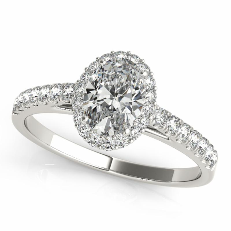 SEMI MOUNT ENGAGEMENT RING HALO OVAL - 8D1R50917