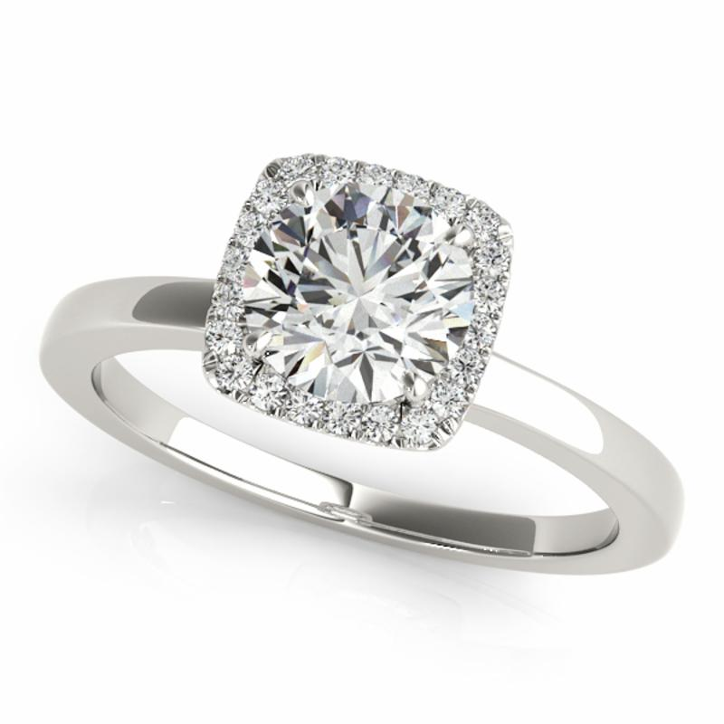 SEMI MOUNT ENGAGEMENT RING HALO ROUND - 8D1R50924