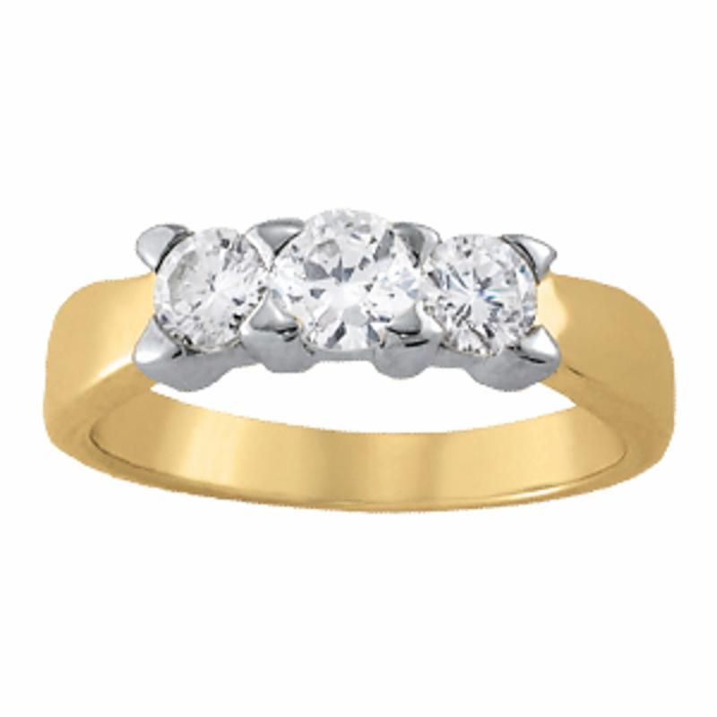 SEMI MOUNT ENGAGEMENT RING 3 STONE ROUND - 8D1R81755
