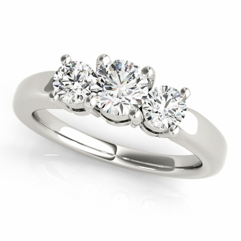 SEMI MOUNT ENGAGEMENT RING 3 STONE ROUND - 8D1R81881