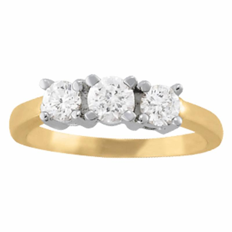 SEMI MOUNT ENGAGEMENT RING 3 STONE ROUND - 8D1R81983