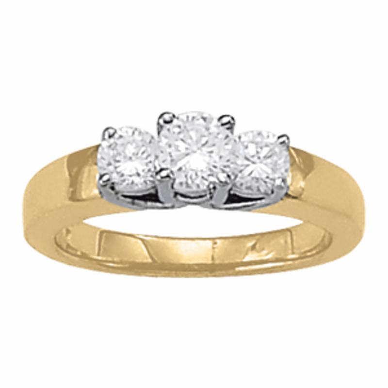 SEMI MOUNT ENGAGEMENT RING 3 STONE ROUND - 8D1R82386