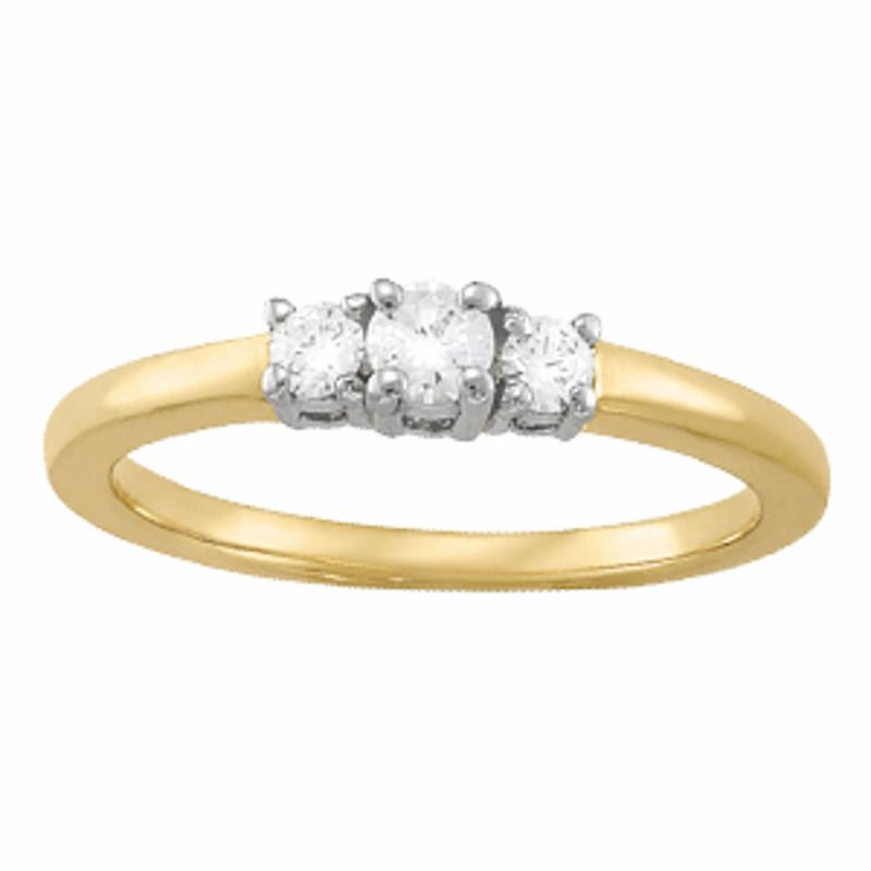 SEMI MOUNT ENGAGEMENT RING 3 STONE ROUND - 8D1R82389