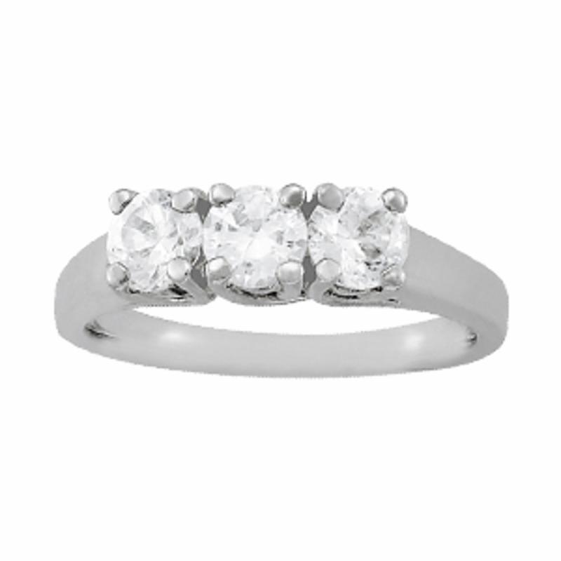 SEMI MOUNT ENGAGEMENT RING 3 STONE ROUND - 8D1R82566