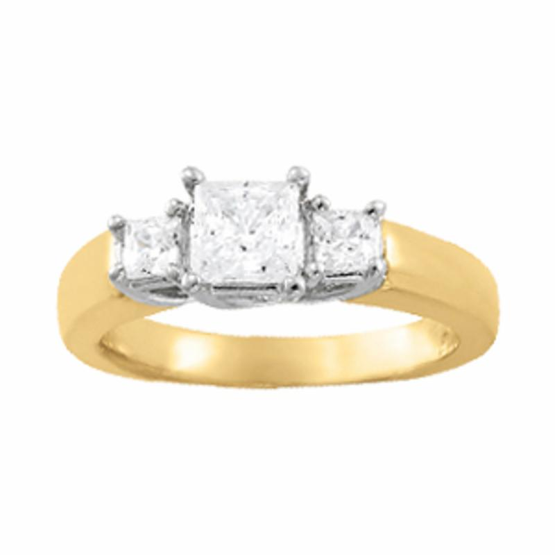 SEMI MOUNT ENGAGEMENT RING 3 STONE PRINCESS - 8D1R82571-A