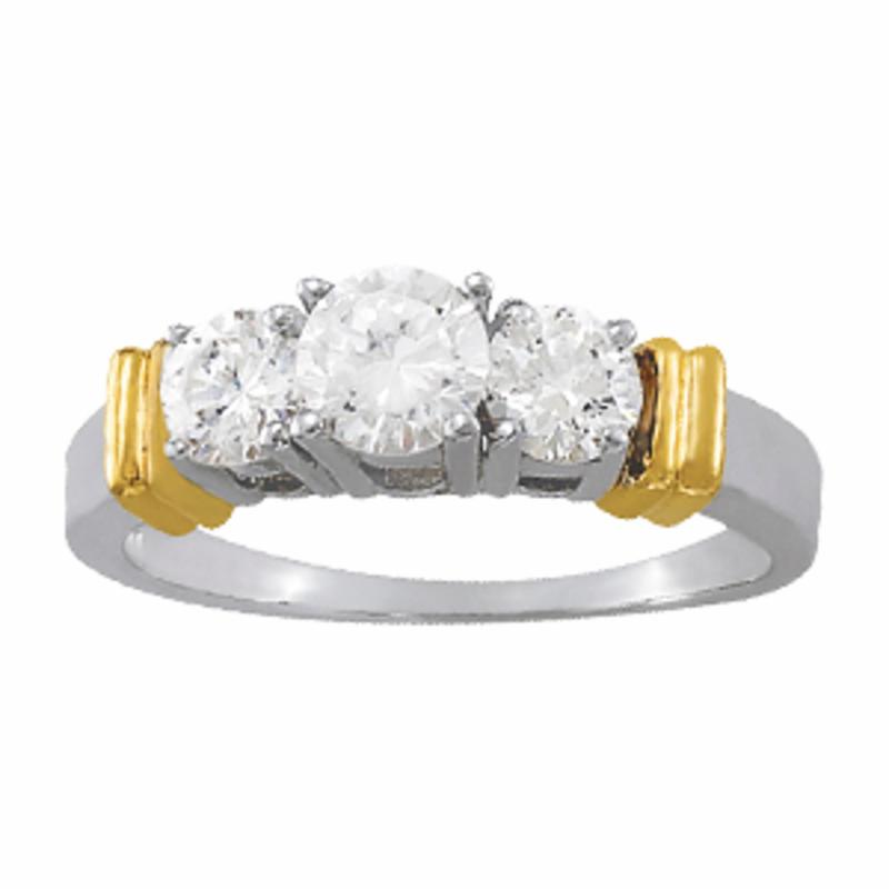 SEMI MOUNT ENGAGEMENT RING 3 STONE ROUND - 8D1R82577