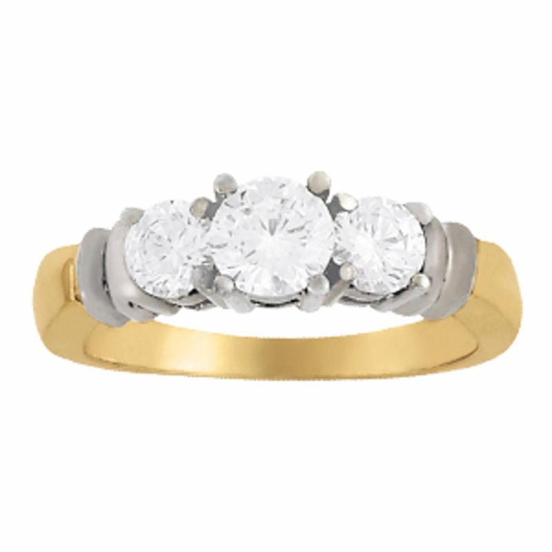 SEMI MOUNT ENGAGEMENT RING 3 STONE ROUND - 8D1R82579
