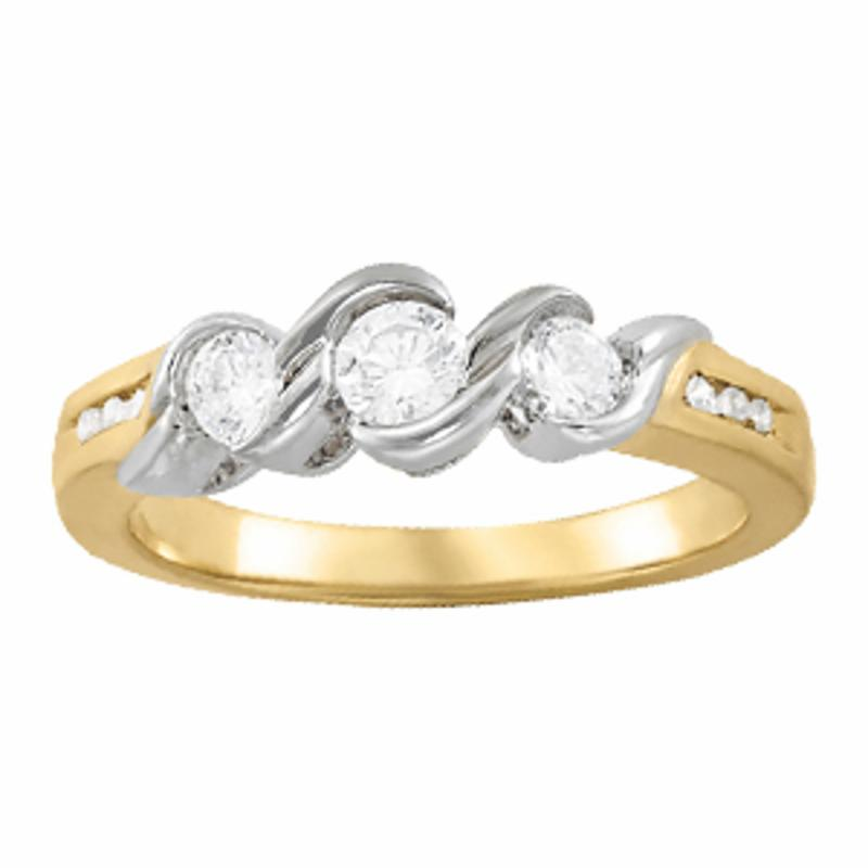 SEMI MOUNT ENGAGEMENT RING 3 STONE ROUND - 8D1R82757