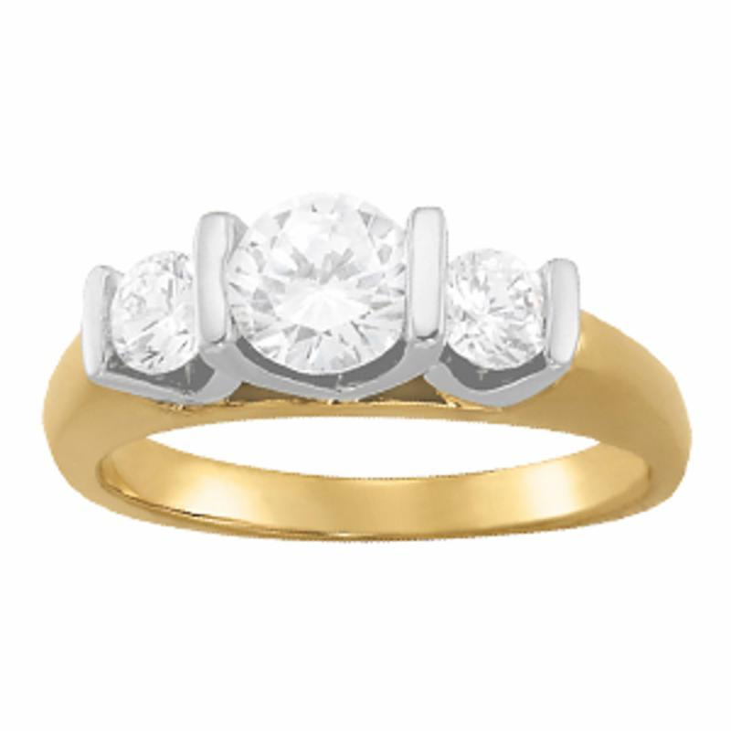 SEMI MOUNT ENGAGEMENT RING 3 STONE ROUND - 8D1R82759