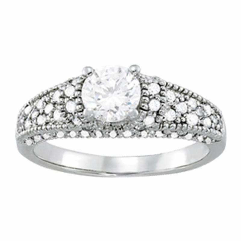 SEMI MOUNT ENGAGEMENT RING PAVE - 8D1R82823-A