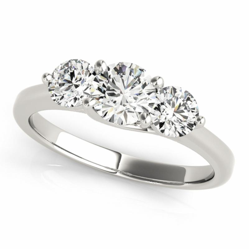 SEMI MOUNT ENGAGEMENT RING 3 STONE ROUND - 8D1R82873