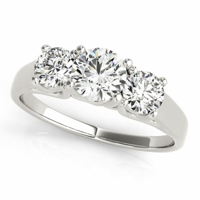 SEMI MOUNT ENGAGEMENT RING 3 STONE ROUND - 8D1R82949