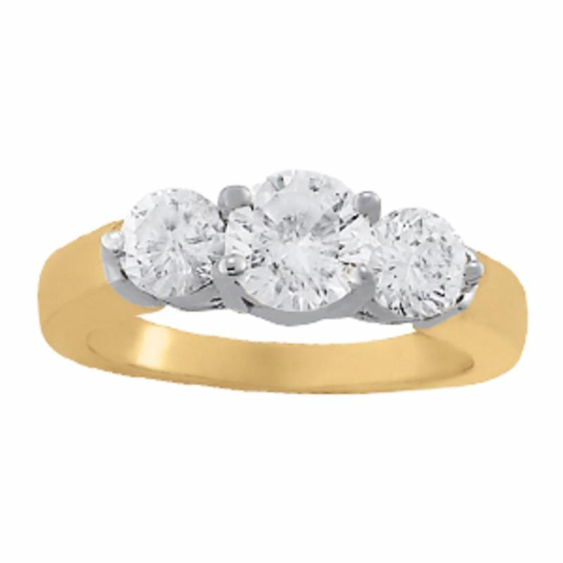 SEMI MOUNT ENGAGEMENT RING 3 STONE ROUND - 8D1R82950