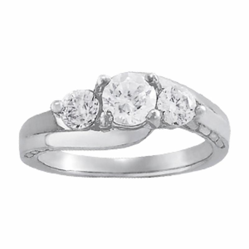 SEMI MOUNT ENGAGEMENT RING 3 STONE ROUND - 8D1R82951