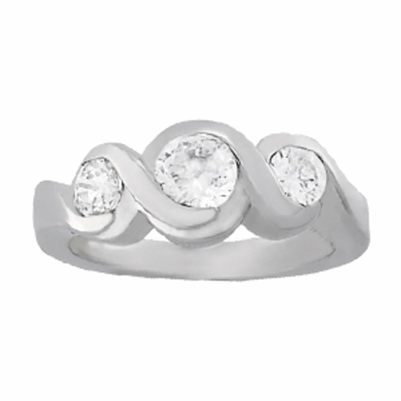 SEMI MOUNT ENGAGEMENT RING 3 STONE ROUND - 8D1R82952