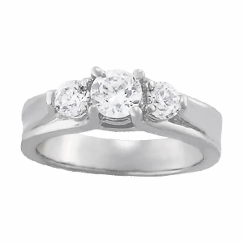 SEMI MOUNT ENGAGEMENT RING 3 STONE ROUND - 8D1R82954