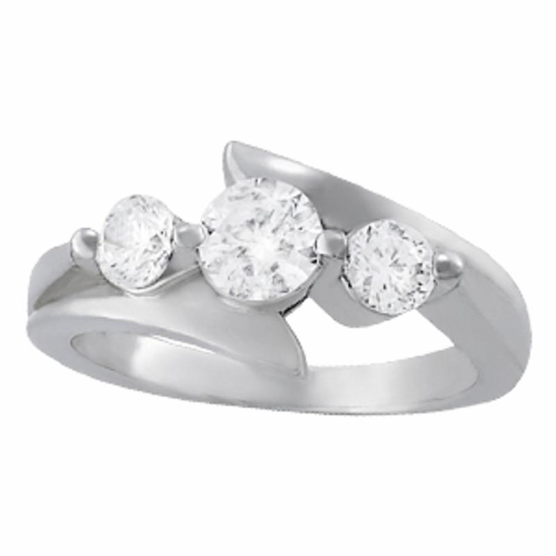 SEMI MOUNT ENGAGEMENT RING 3 STONE ROUND - 8D1R82956