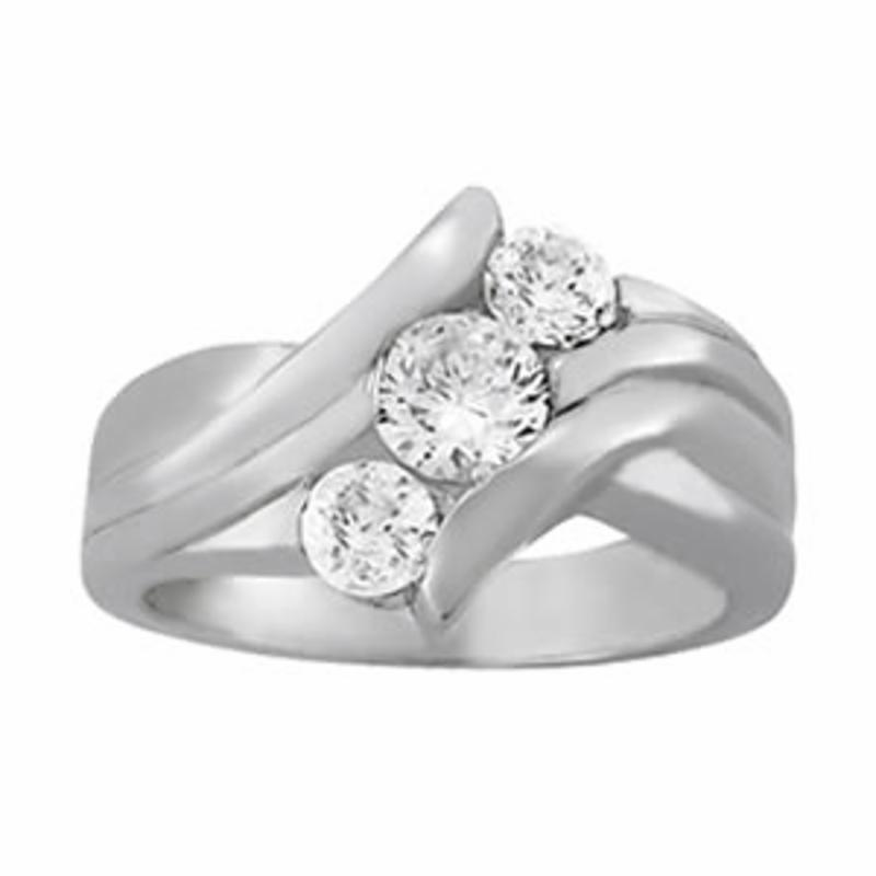 SEMI MOUNT ENGAGEMENT RING 3 STONE ROUND - 8D1R82957
