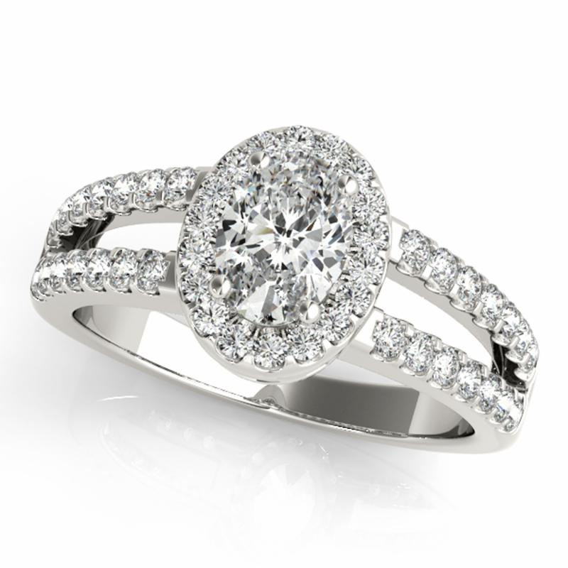 SEMI MOUNT ENGAGEMENT RING HALO OVAL - 8D1R83492