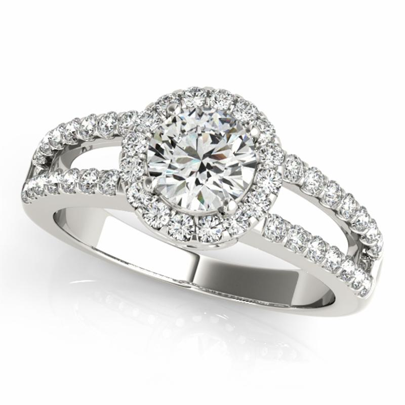 SEMI MOUNT ENGAGEMENT RING HALO ROUND - 8D1R83493