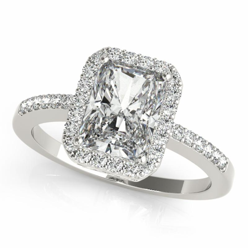 SEMI MOUNT ENGAGEMENT RING HALO EMERALD - 8D1R83495