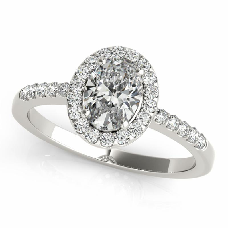 SEMI MOUNT ENGAGEMENT RING HALO OVAL - 8D1R83497
