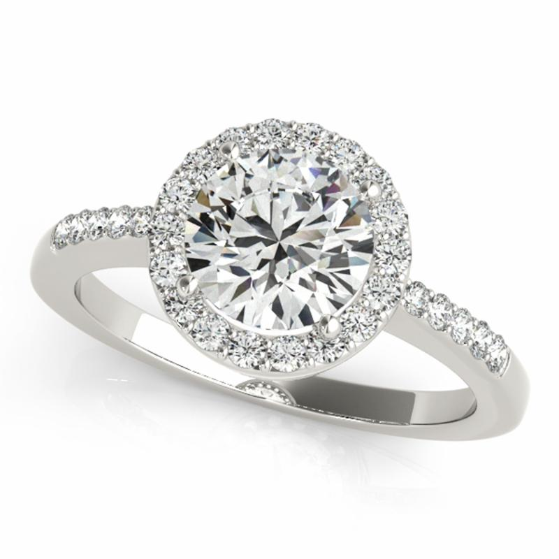 SEMI MOUNT ENGAGEMENT RING HALO ROUND - 8D1R83499