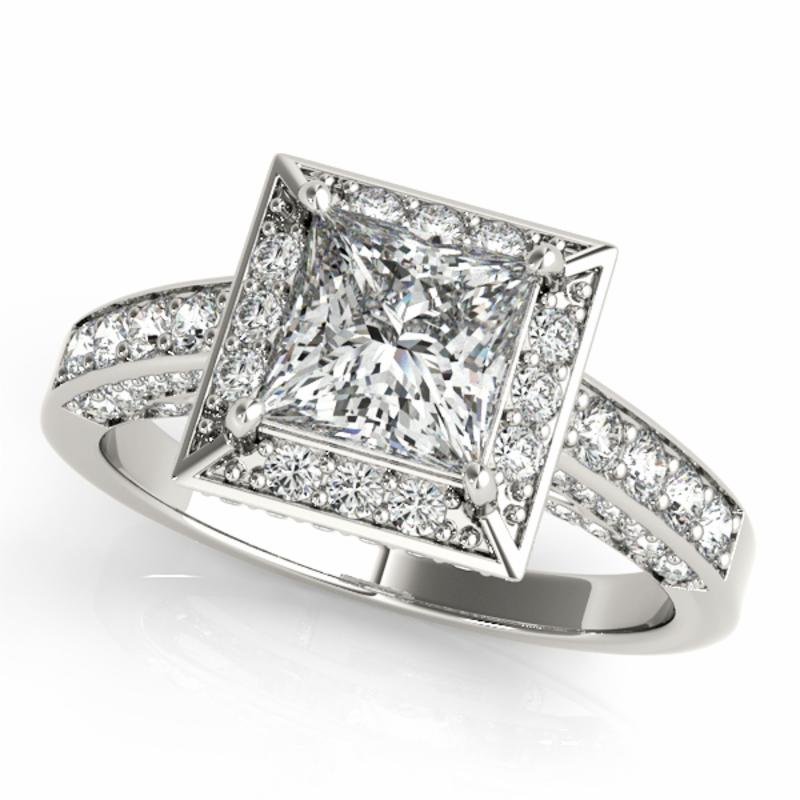 SEMI MOUNT ENGAGEMENT RING HALO SQUARE & CUSHION - 8D1R83501