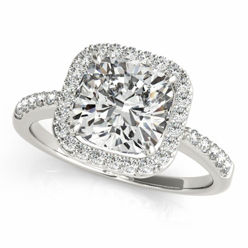 SEMI MOUNT ENGAGEMENT RING HALO SQUARE & CUSHION - 8D1R83503