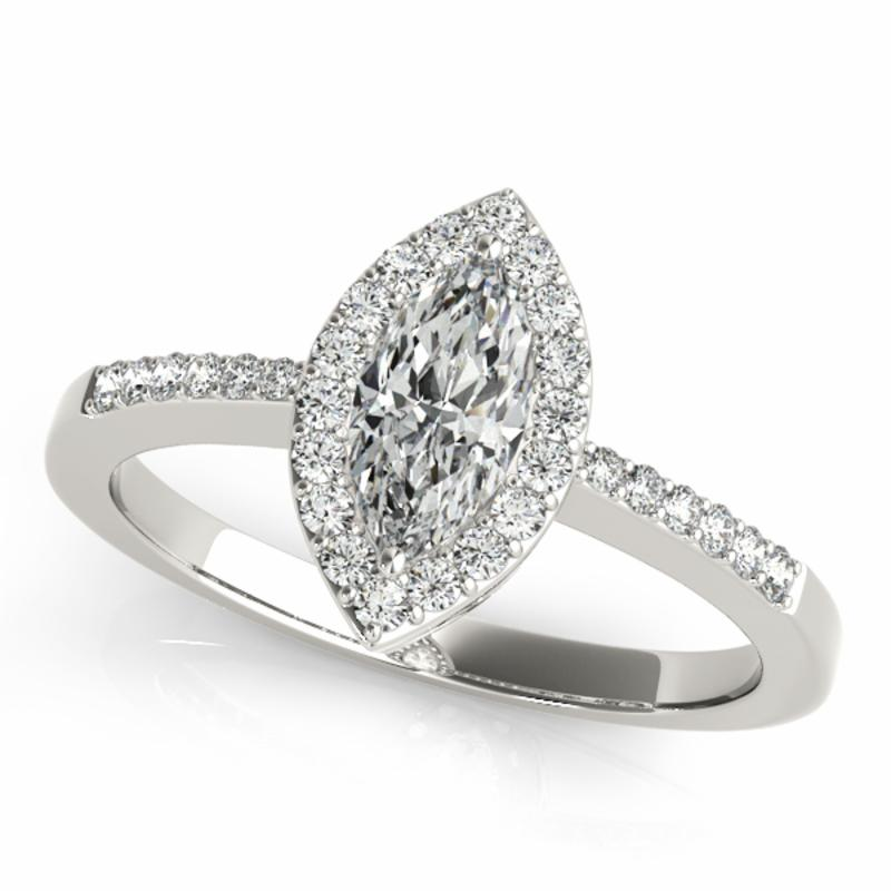 SEMI MOUNT ENGAGEMENT RING HALO MARQUISE - 8D1R83532