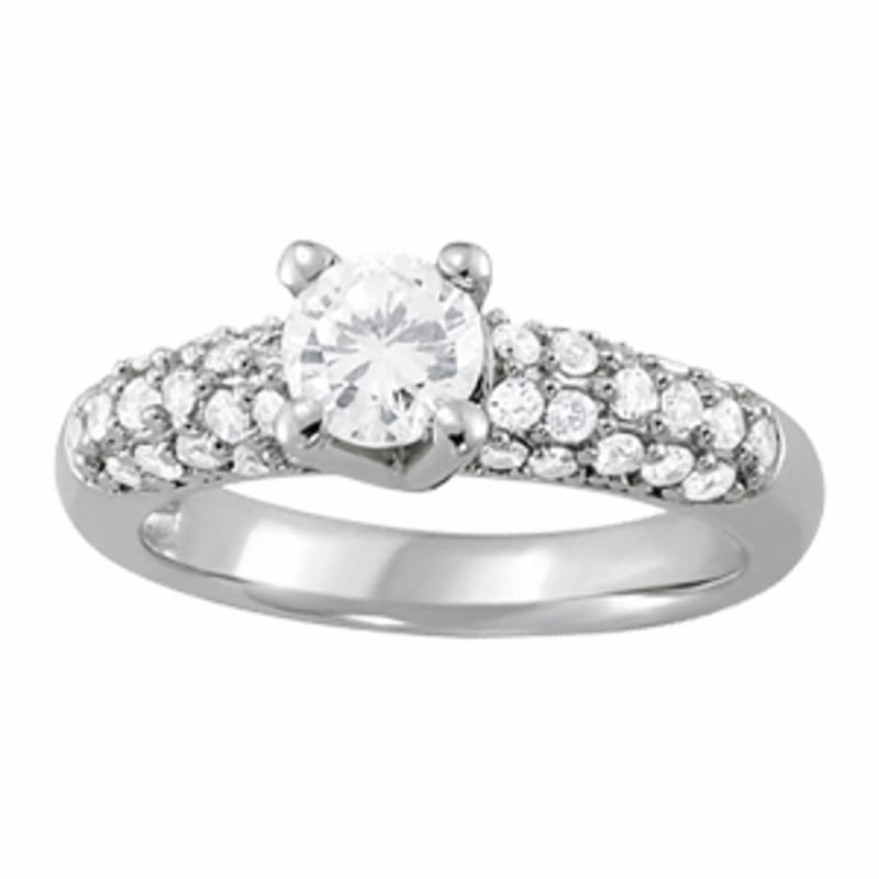 SEMI MOUNT ENGAGEMENT RING PAVE - 8D1R83702